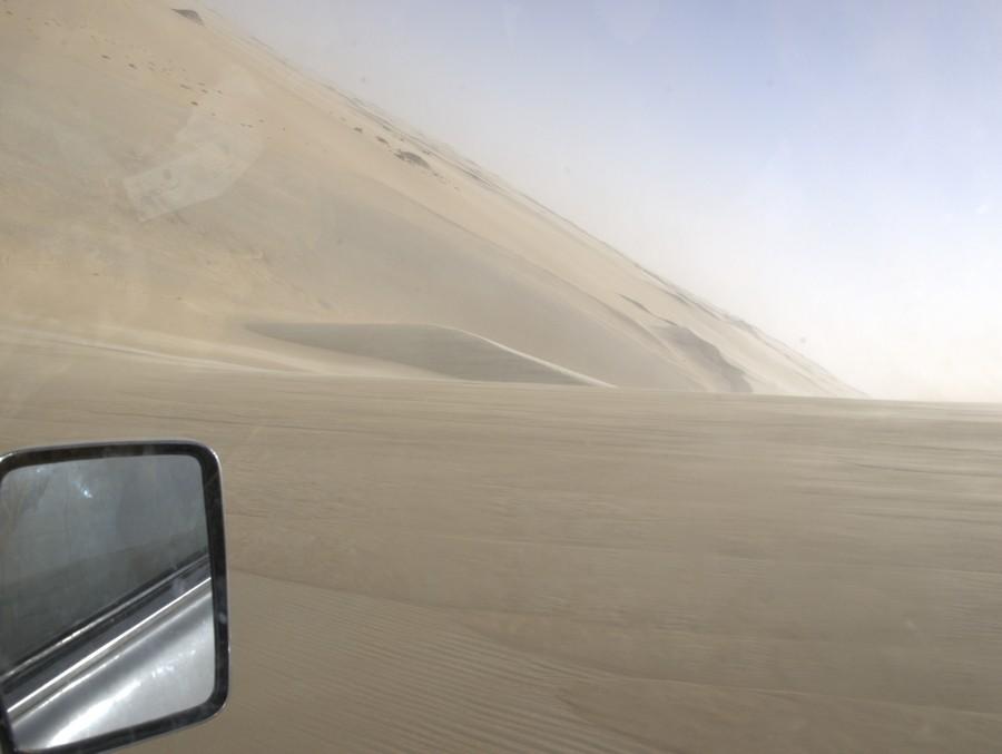 Duny v poušti.