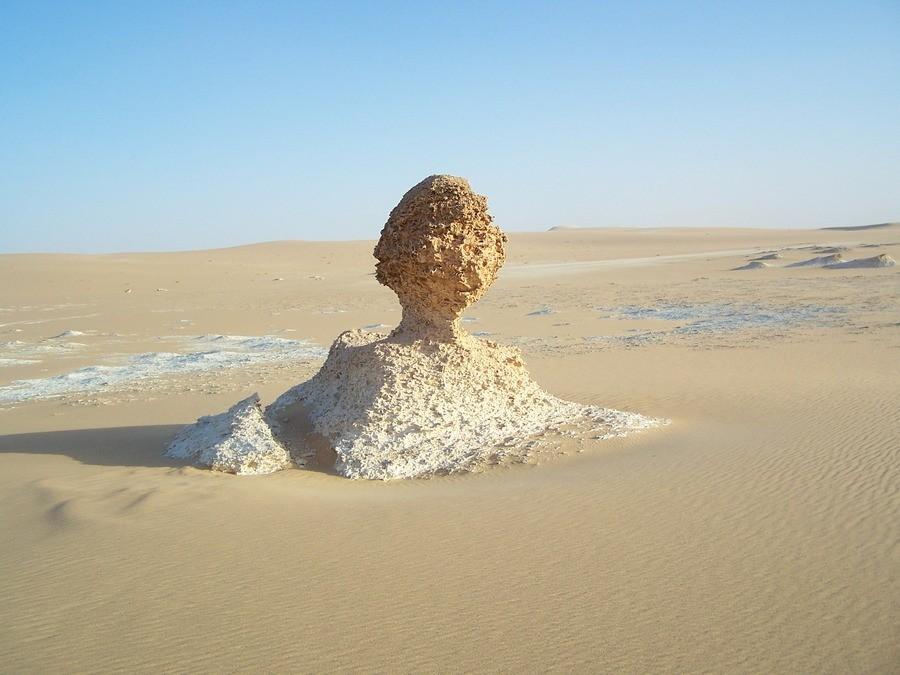 Poušť nedaleko oázay Siwa