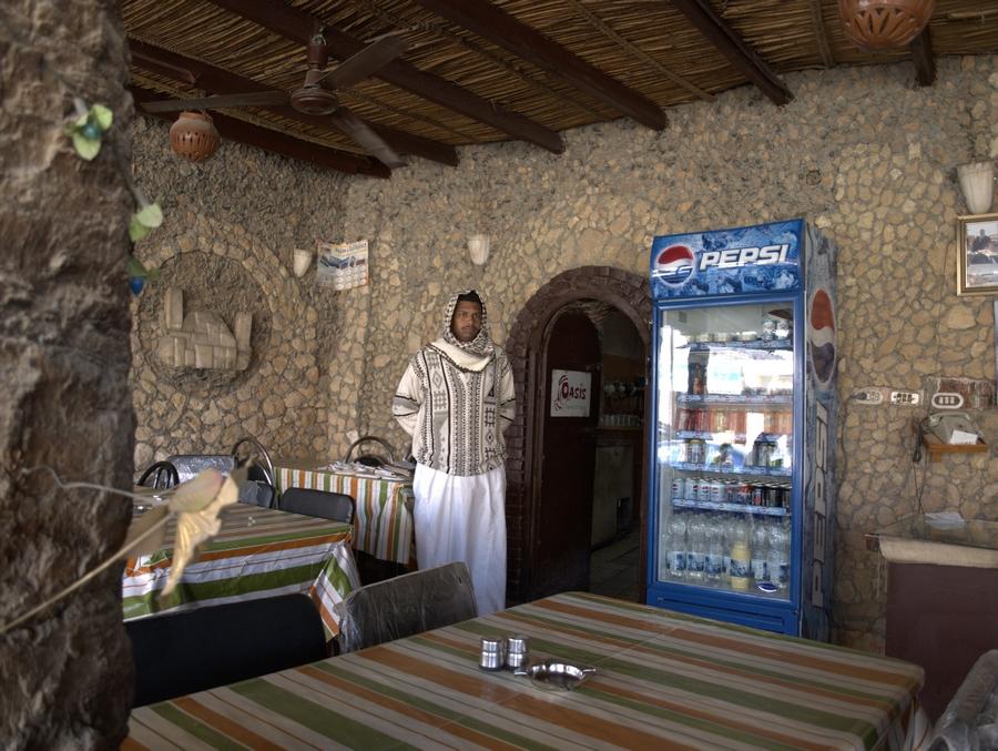 Restaurace v oáze Siwa