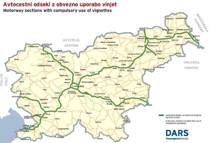 Dálniční sít ve Slovinsku