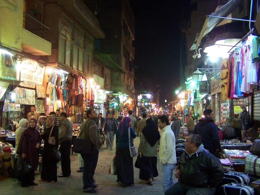Slavný bazar v Káhiře