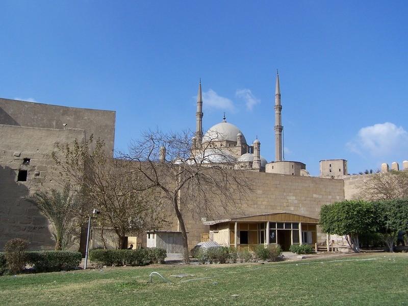Citadela Salah Al-Din s alabastrovou mešitou.