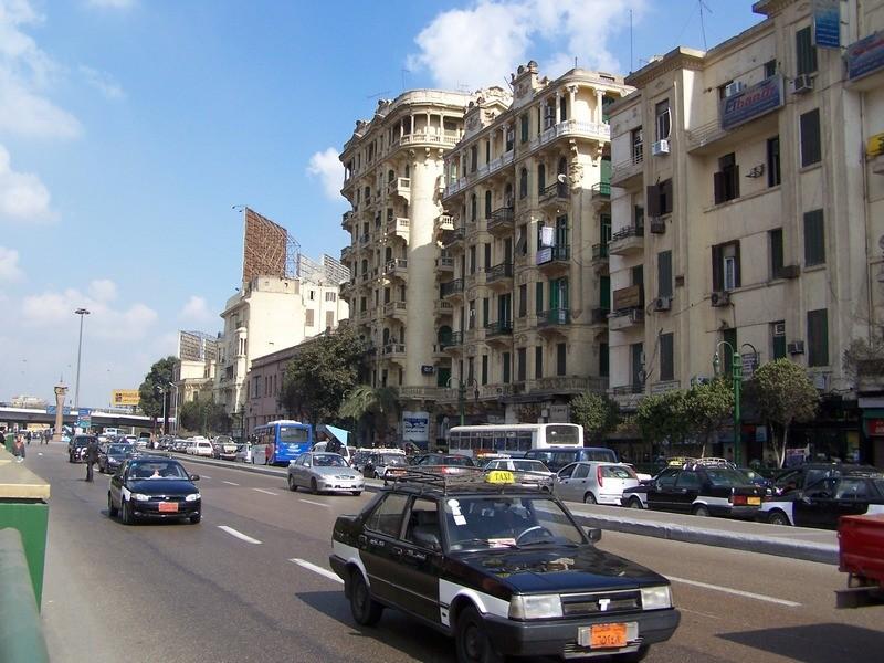 Taxi v Káhiře.
