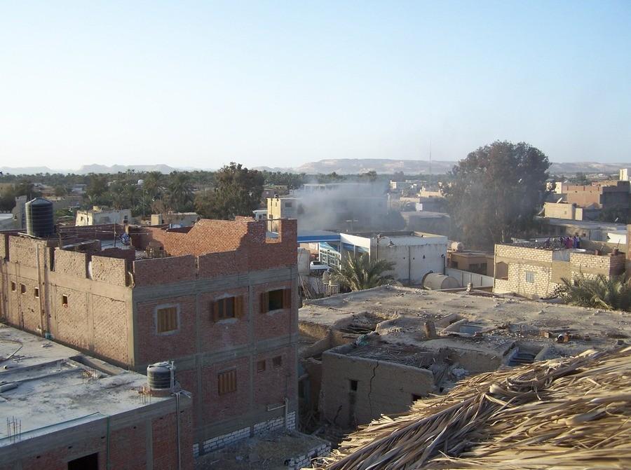 Požár domu v Siwe