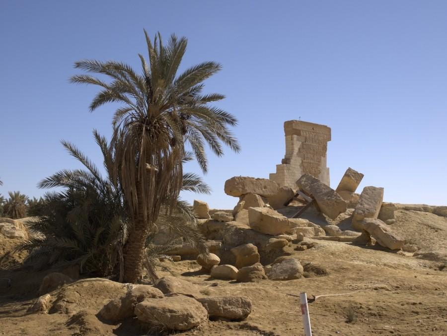 Amonův chrám v oáze Siwa.