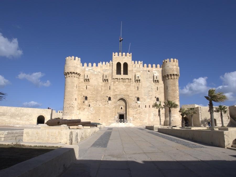 Pevnost Qaitbay v Egyptské Alexandrii.