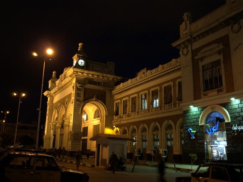 Vlakové nádraží v Alexandrii.