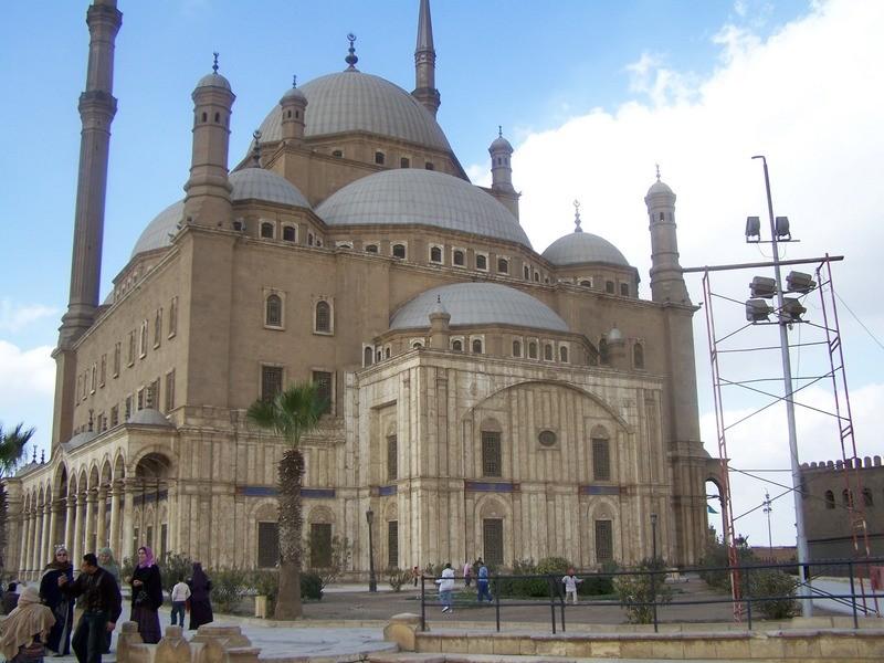 Alabastrová mešita v Káhiře.